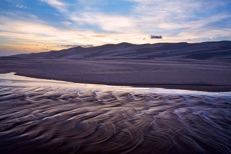 Medano Creek,Great Sand Dunes,Colorado, photo