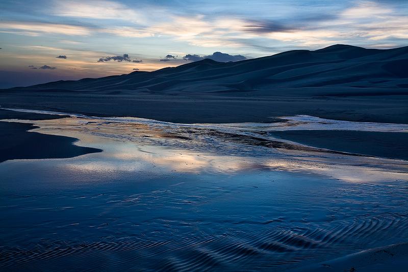 Medano Creek,Great Sand Dunes,Colorado, photo