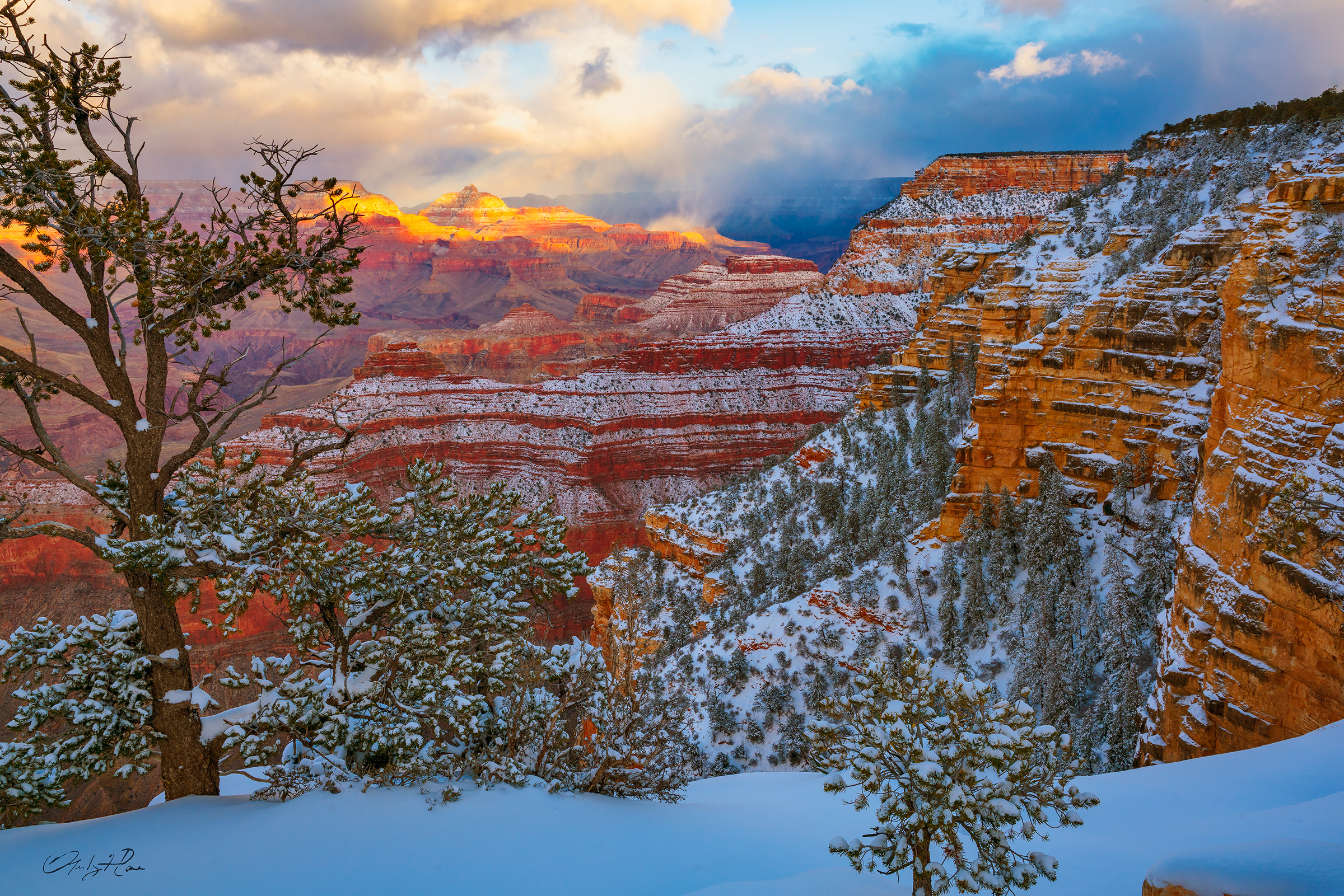 Grand Canyon,south rim,winter, photo