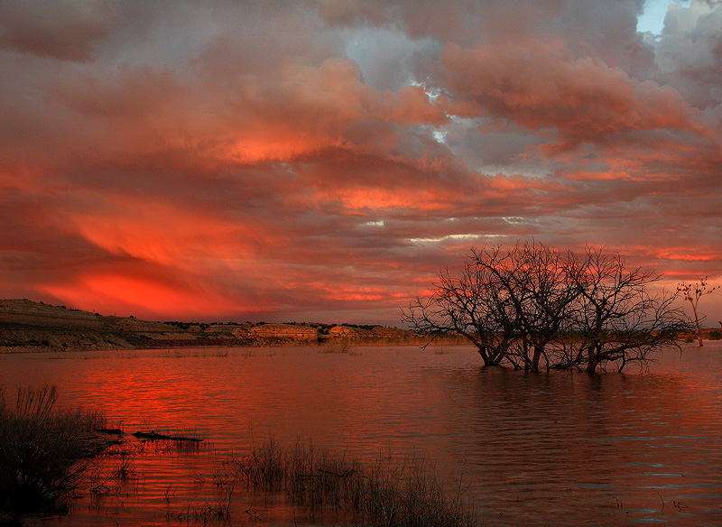 sunset,lake,Colorado,Lake Pueblo, photo