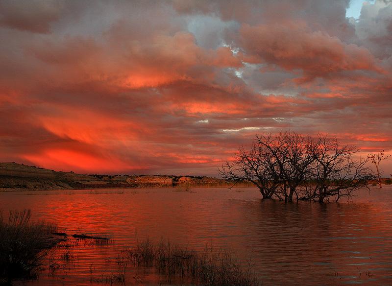 Lake Pueblo, Colorado, sunset