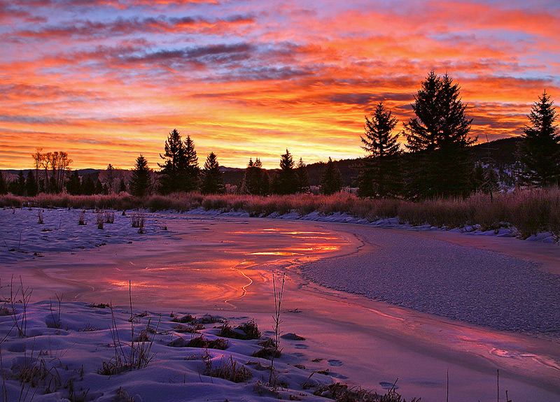 sunrise,Teton,Wyoming,Lava creek, photo