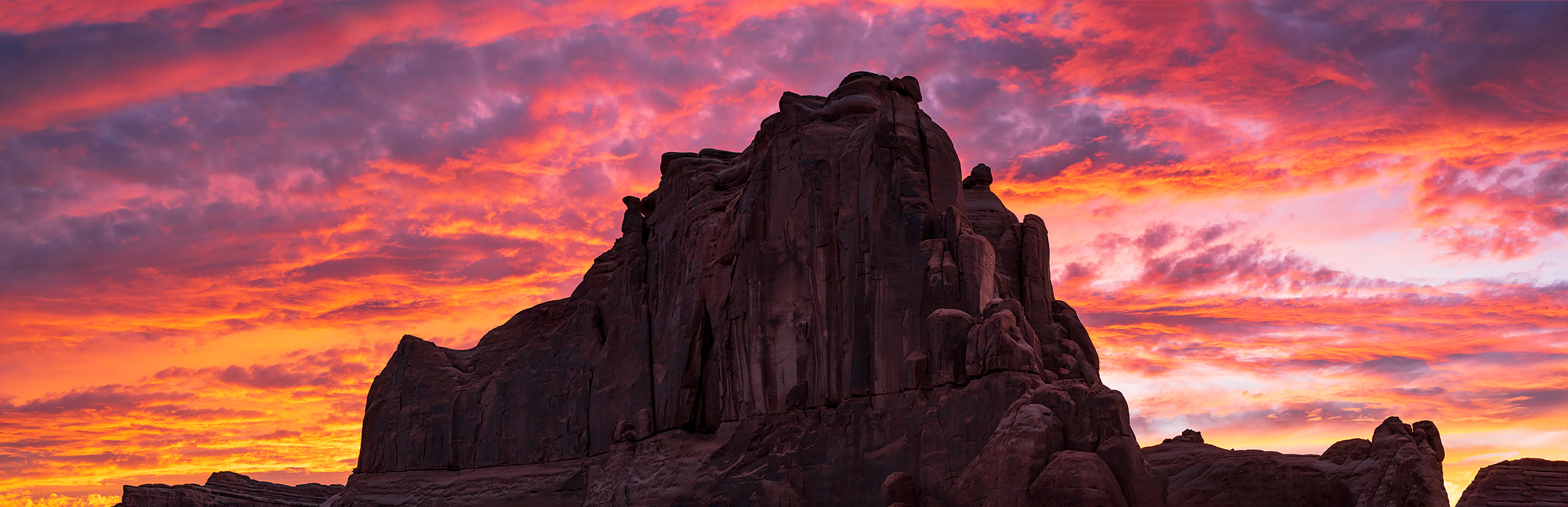 sunset, Arches National Park, Utah, Le Sal Overlook, photo