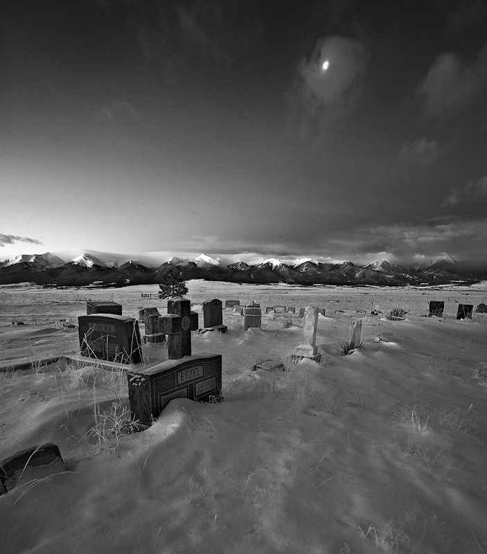 Silver Cliff,Colorado,cemetery,moonrise, photo