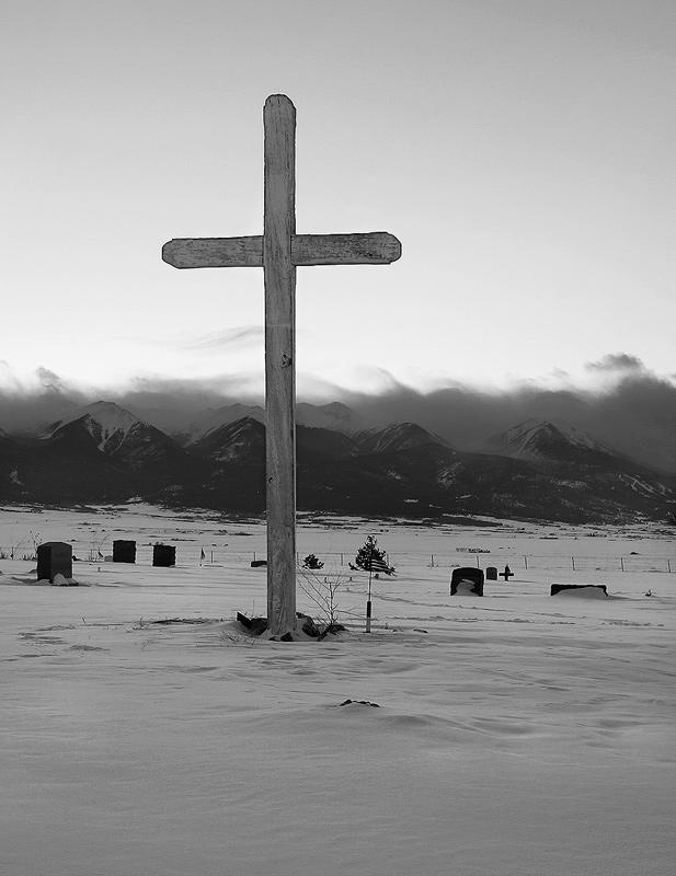 Siver Cliffe, Colorado cemetary in Winter