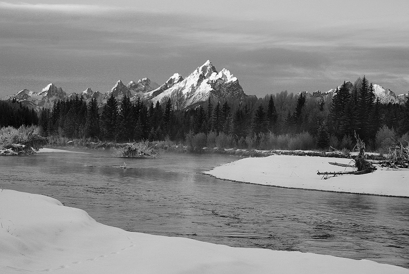 Grand Teton,Winter,Snake, photo