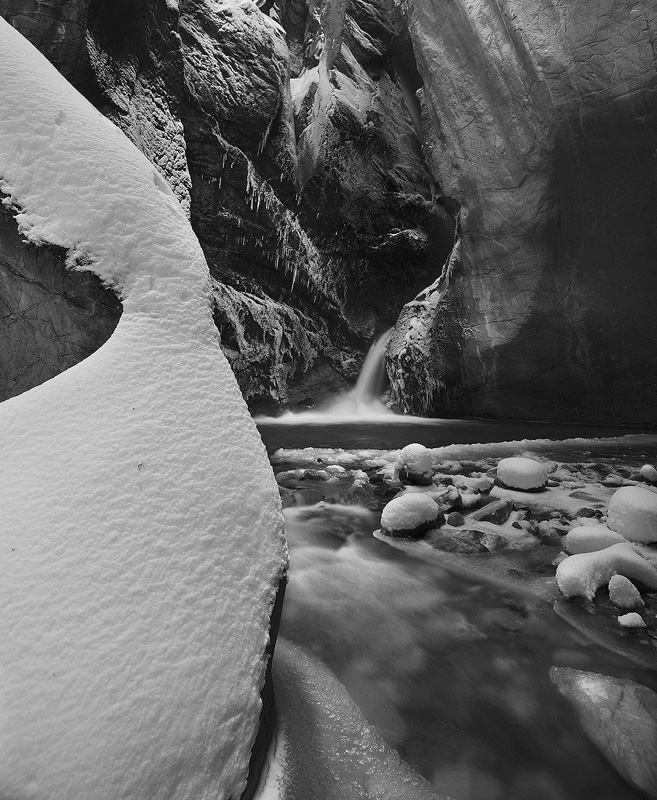 Box Canyon,Ouray,Winter, photo
