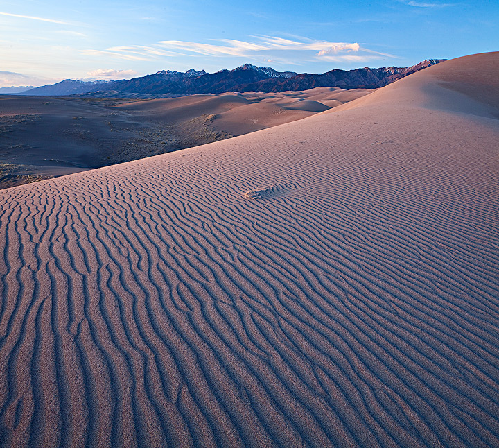 Great Sand Dunes,Colorado,evening, photo