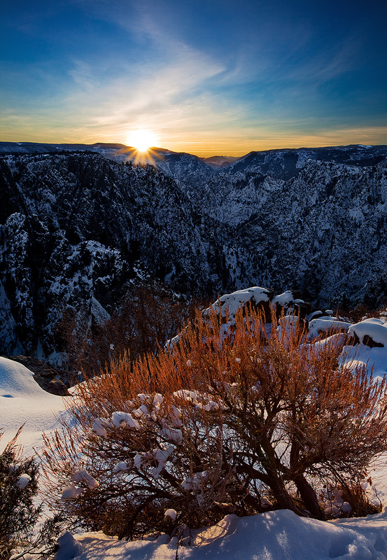 Tomichi,sunrise,Black Canyon,Gunnison,Colorado, photo