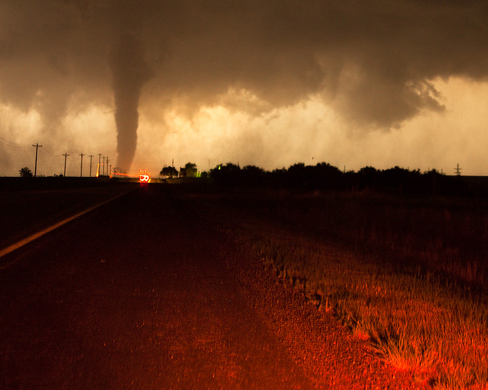 tornado,night,lacrosse,kansas, photo
