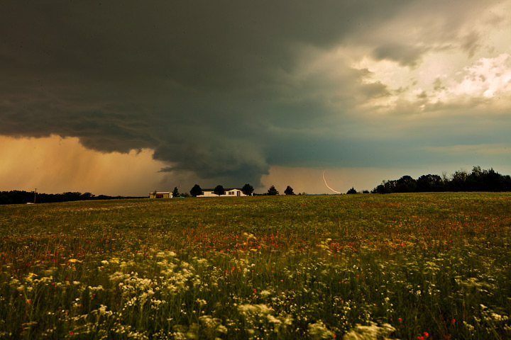supercell,tornado,wall cloud,oklahoma,elmore city, photo