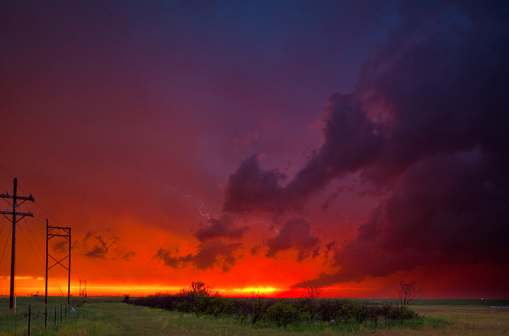 sunset,thunderstorm,great bend,kansas,lightning, photo