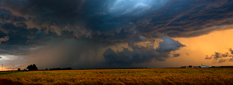 thunderstorm,sunset,Kansas, photo