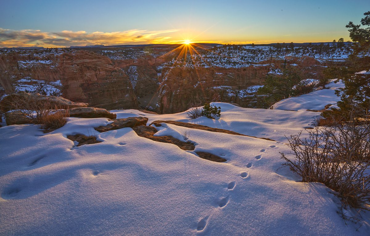 Canyon de Chelly, Arizona, sunrise, photo