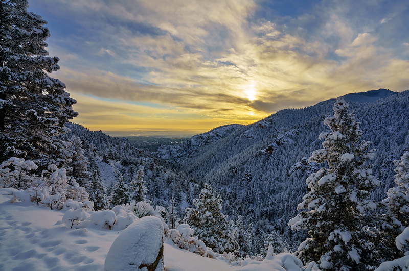 sunrise,North Cheyenne Canyon,Colorado, photo