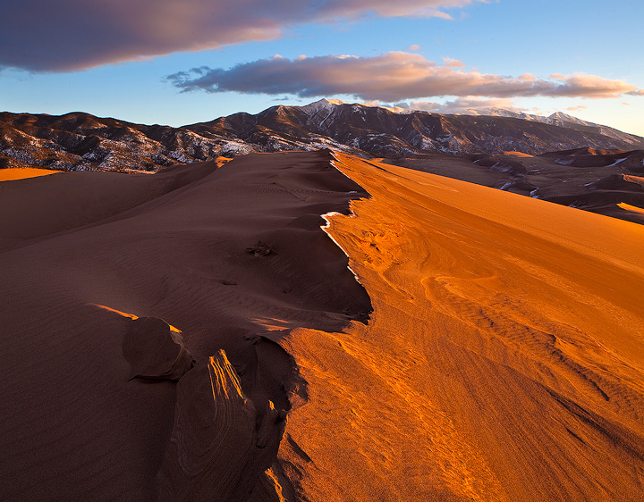 Great Sand Dunes,Colorado,sunset, photo