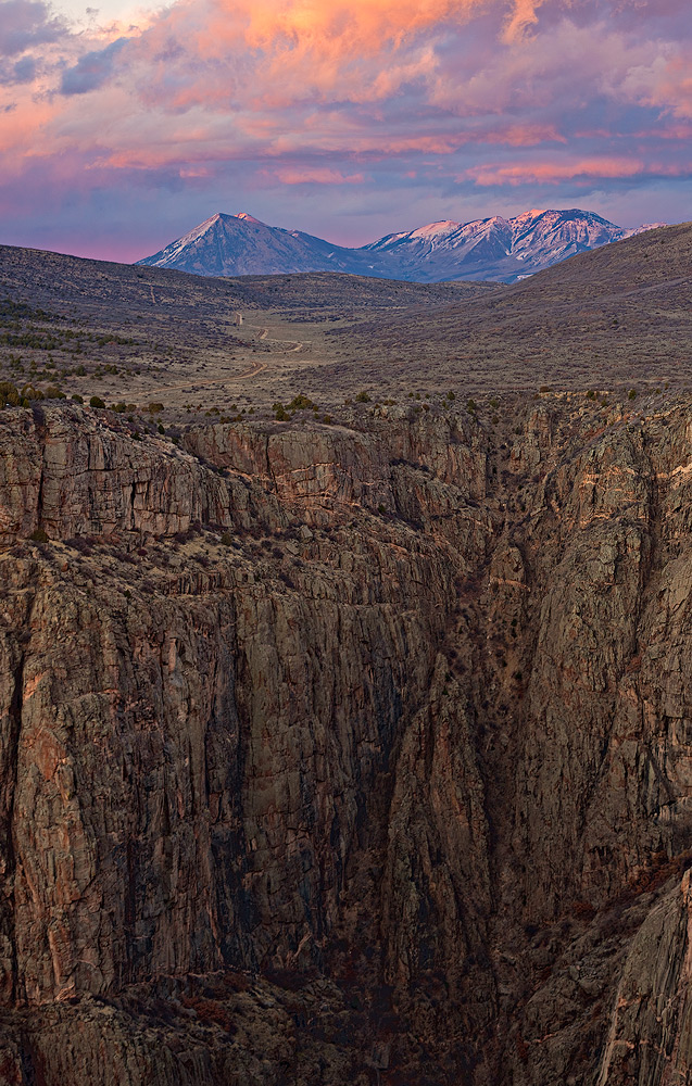 Black Canyon of the Gunnison,Colorado,sunset,Devil's, photo
