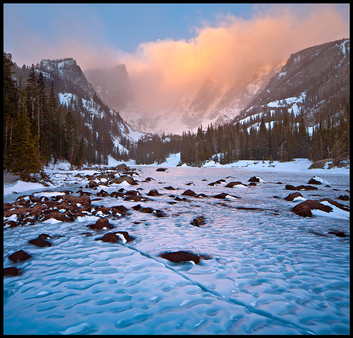 Rocky Mountain,Colorado,Dream Lake,Winter, photo