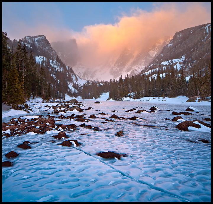Rocky Mountain,Colorado,Dream Lake,Winter, photo