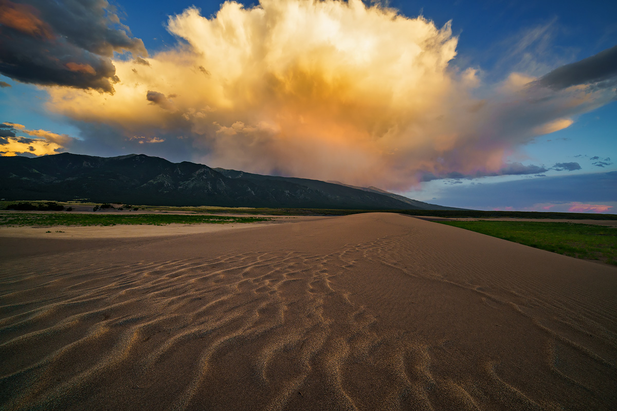 Great Sand Dunes National Park, Colorado, thunderstorm, monsoon, photo