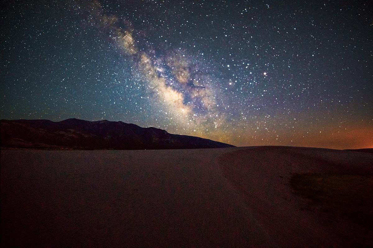 Milky Way, Great Sand Dunes National Park, Colorado, photo