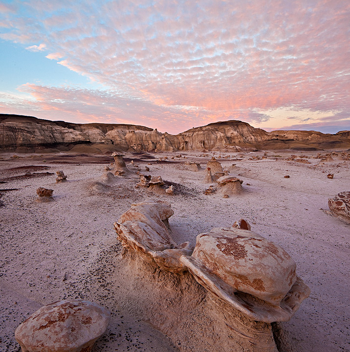 pastel,alien eggs,bisti badlands,new mexico,sunrise, photo