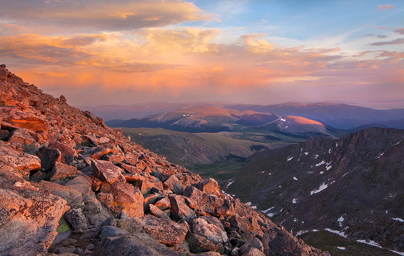 Mount Evans, Colorado,sunset, photo