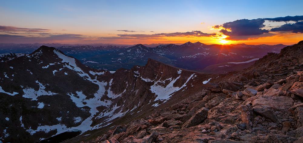 Mount Evans, Colorado,sunset,Sawtooth, photo