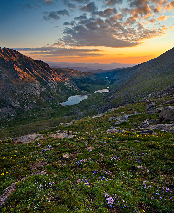 Mount Evans,sunrise, photo