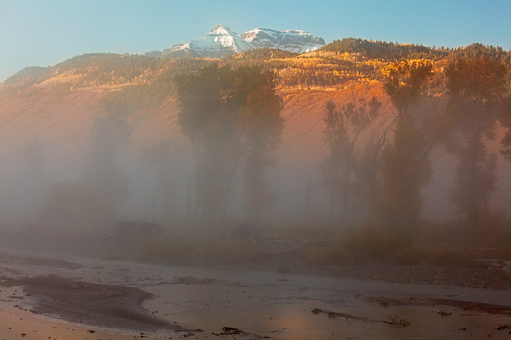 Fog in the Uncompaghre Valley, San Juan Mountains.