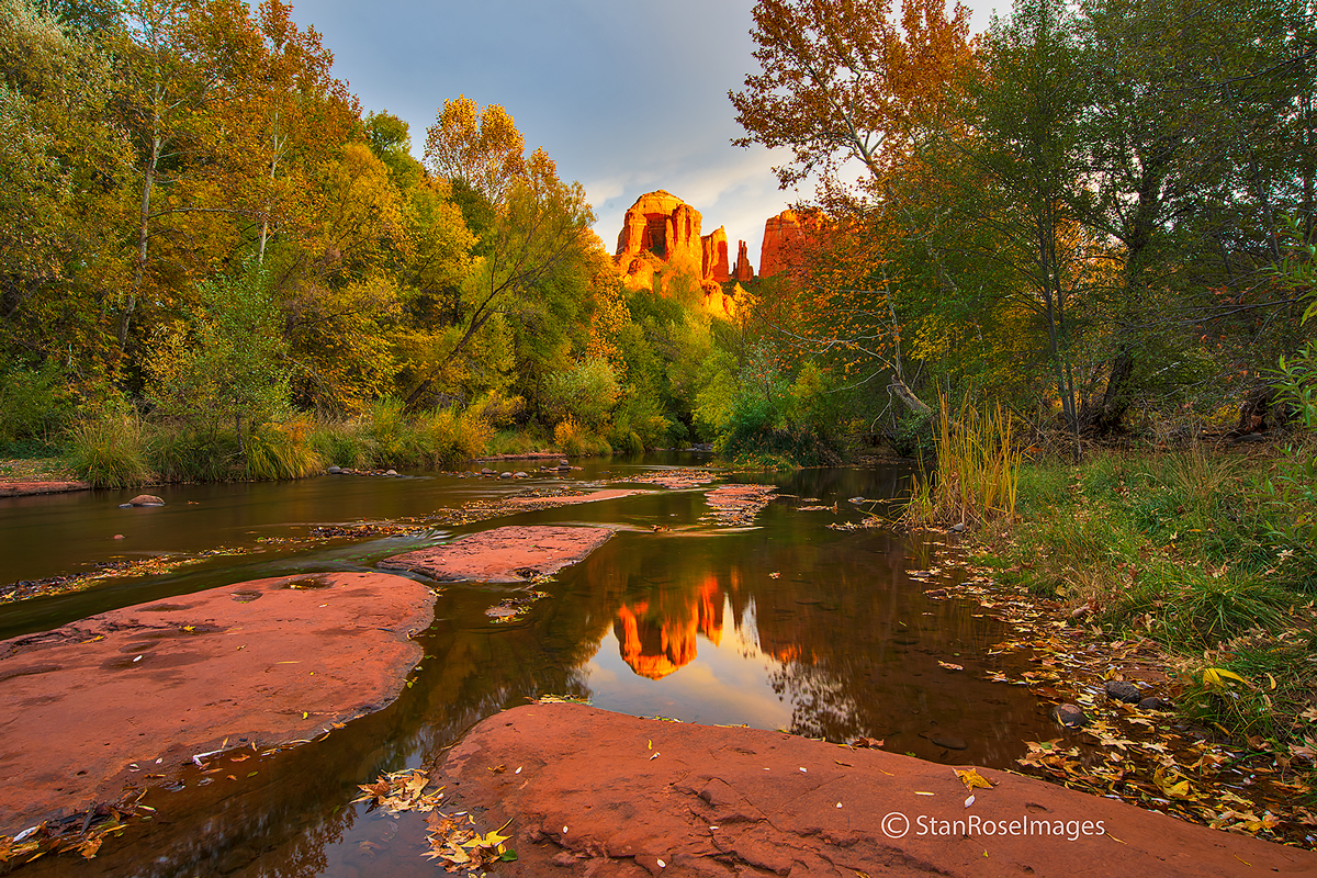 Autumn colors from Red Rock Crossing in Sedona.