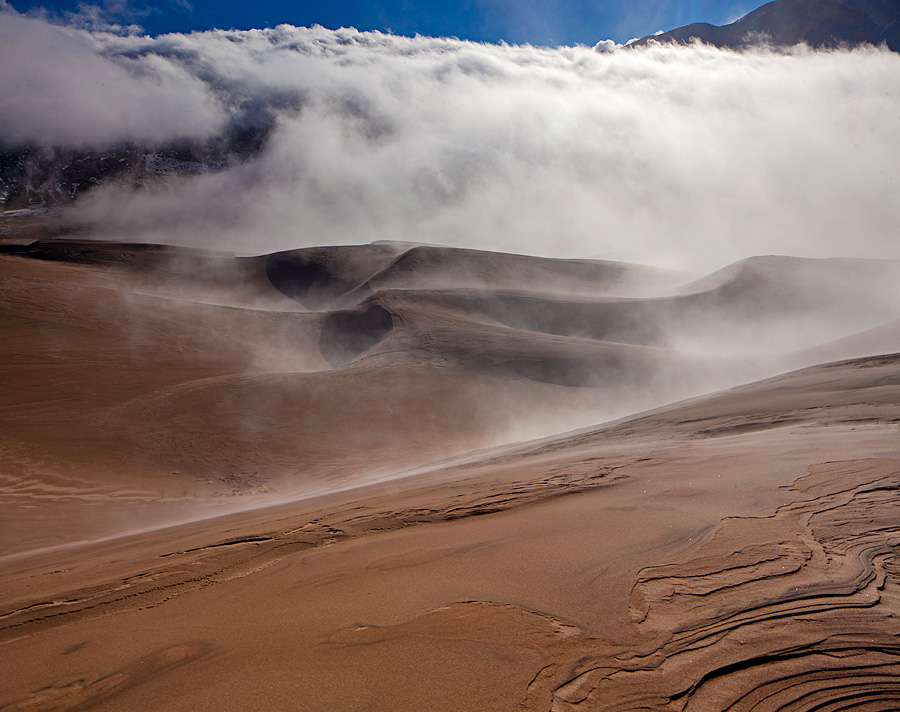 Great Sand Dunes,colorado,fog, photo