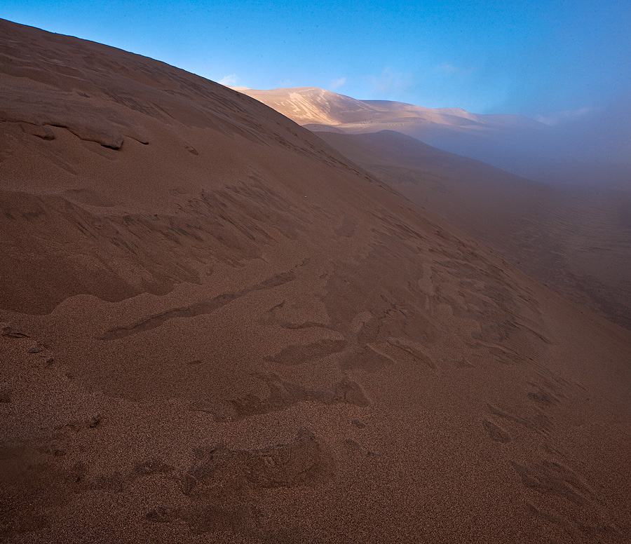 fog,great sand dunes, photo