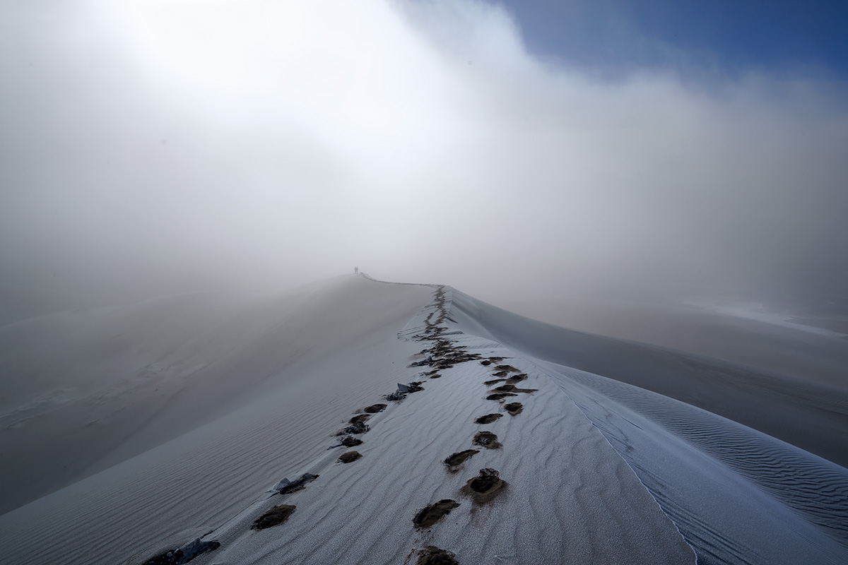 fog, High Dunes, Great Sand Dunes, Colorado, photo