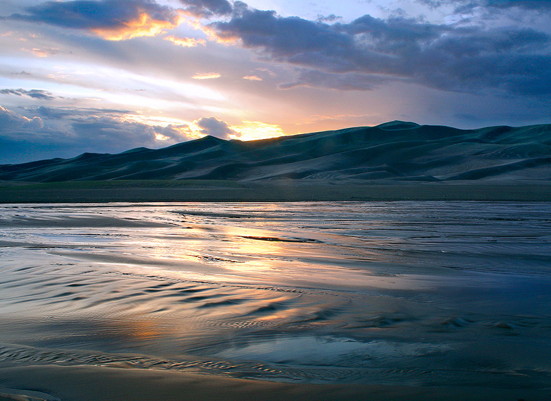 Great Sand Dunes,Medano Creek,Colorado, photo