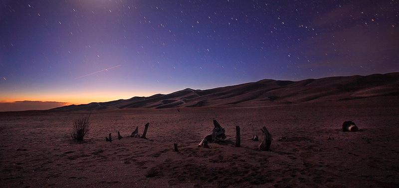 Dunes at Night.