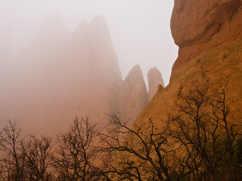 Garden of the Gods,Colorado,fog, photo