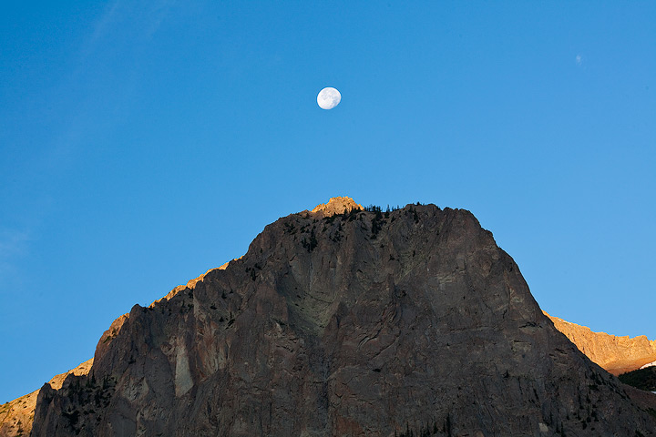 sunrise,moon,gothic,colorado, photo
