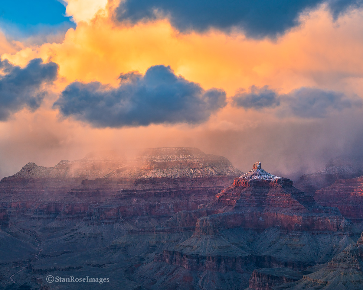 Temple of Isis,Grand Canyon,winter,sunset, photo