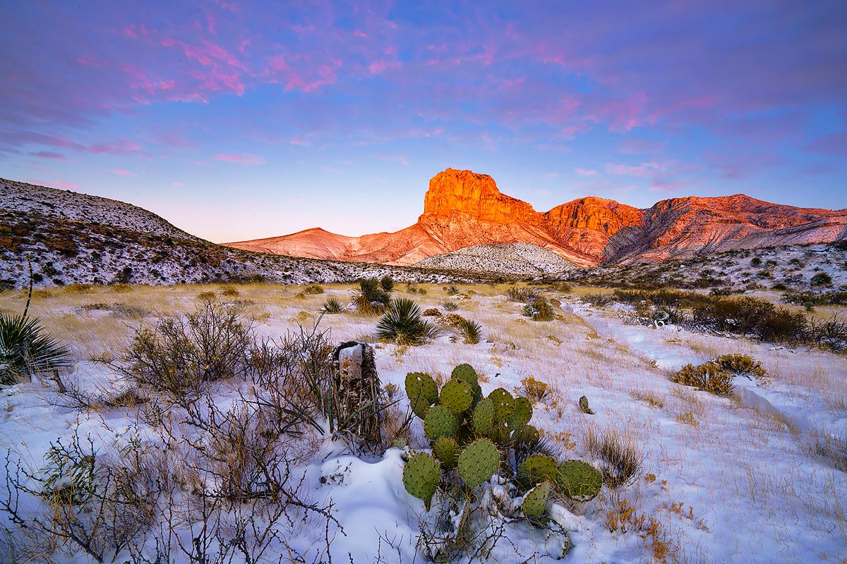 El Capitan after a December snowstorm.