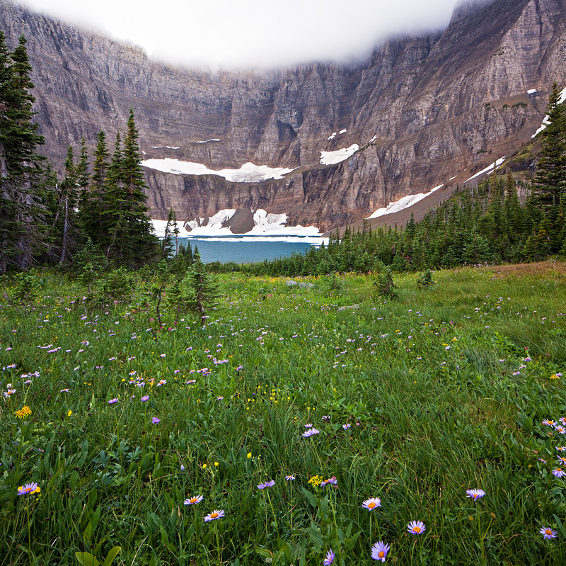 Glacier National Park, Montana,Iceberg Lake, photo