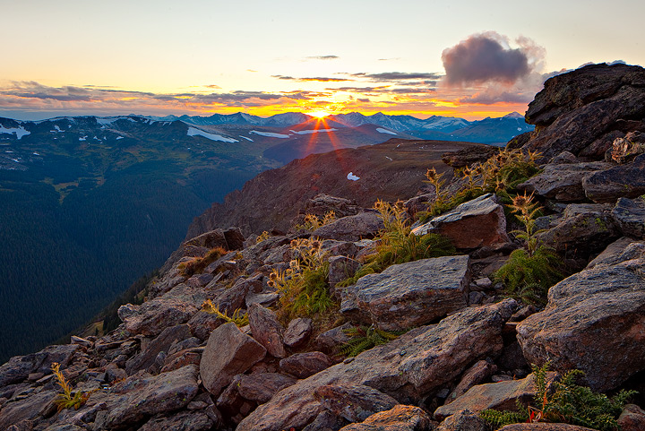 sunset,trail ridge,rocky mountain,colorado, photo