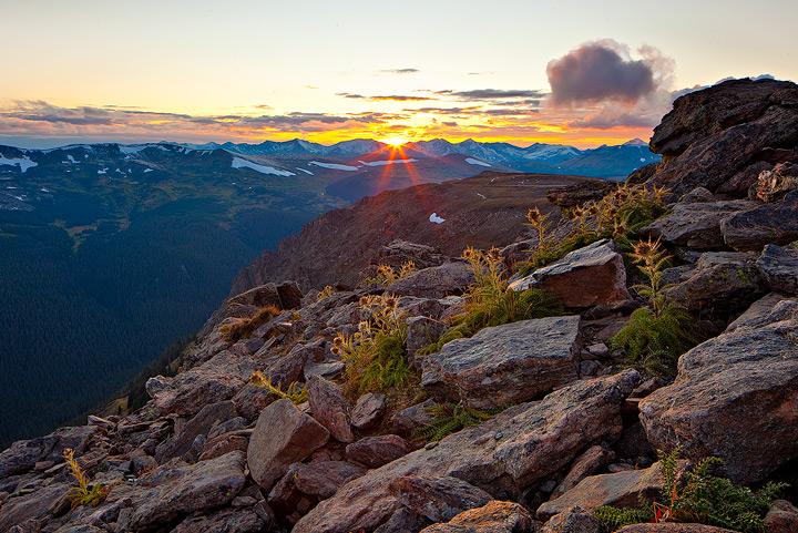 sunset,trail ridge,rocky mountain,colorado, photo