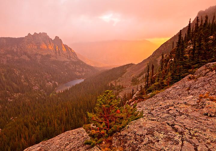 miracle,sunrise,rocky mountain,snow,sleet,rain,colorado, photo