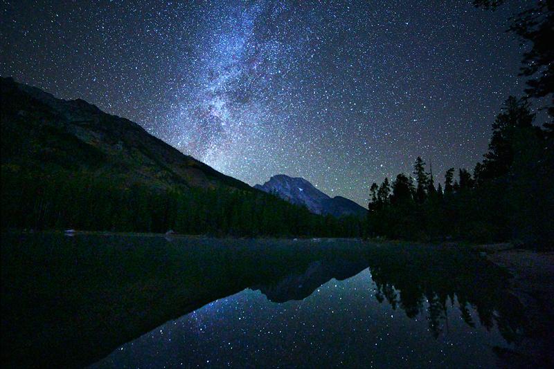 Leigh Lake,Grand Teton,night,Wyoming, photo