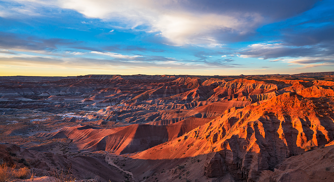 Little Painted Desert, sunset, photo