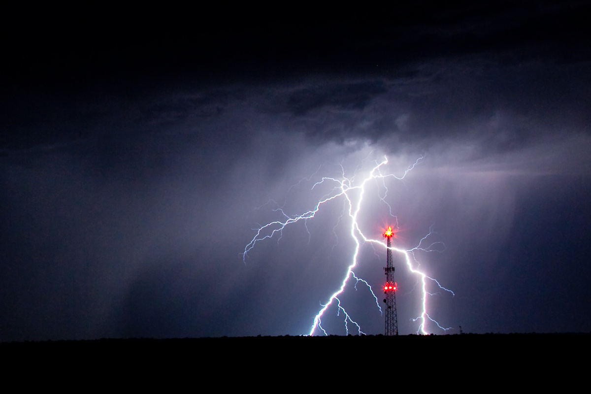 Pueblo, lightning, photo