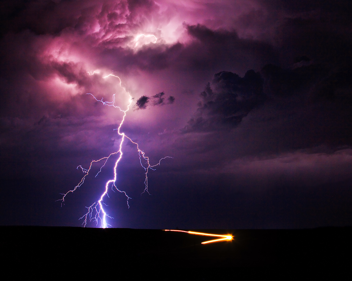 Pueblo West, Colorado, lightning, photo