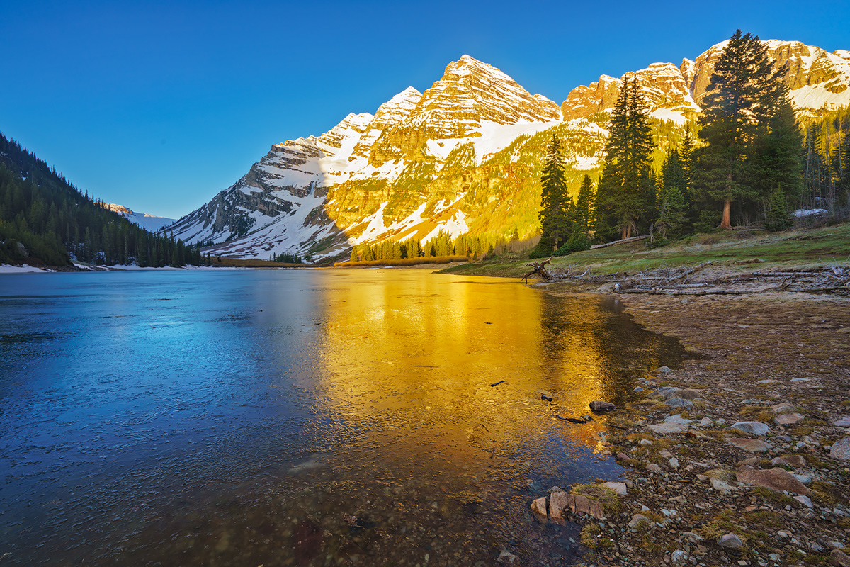 Maroon Bells, Colorado, Aspen, Crater Lake, reflections, photo