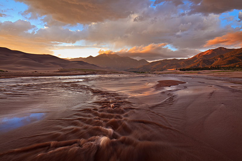 Great Sand Dunes, Colorado, Medano Creek, photo